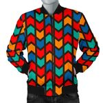 Zig Zag Colorful Pattern P3D Printed Unisex Jacket