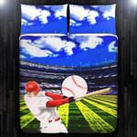 Baseball Player Blue Sky Cloud  Bedding Set Bedroom Decor