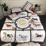Medieval Horses Squares Bedding Set Bedroom Decor