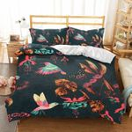 Flying Hummingbird Butterfly Printed Bedding Set Bedroom Decor