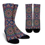 Colorful Bohemian Mandala Pattern Print Unisex Crew Socks
