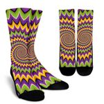 Twisted Colors Moving Optical Illusion Unisex Crew Socks