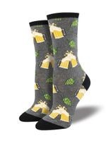 Hoppier Together (Grey) Women's Crew Socks Funny Cute Unique Socks