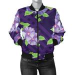 Purple Morning Glory Flower 3D Printed Unisex Jacket