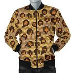 Knit Leopard Pattern 3D Printed Unisex Jacket