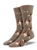 Nothing but a Hound Dog (Lt. Brown) Men's Crew Socks