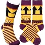 """""""Awesome Son"""" Socks - Primitives by Kathy Gift Ideas For Men Women Comfortable Funny Unique Socks"""
