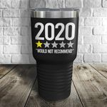 2020 Would Not Recommend Black Color Printed Tumbler