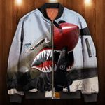 Tiger Shark Angry 3D Printed Unisex Bomber Jacket