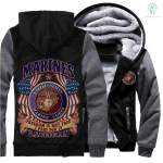 United States US Marine Corps 3D Printed Unisex Fleece Zipper Jacket