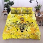 Bee With Crown Printed Bedding Set Bedroom Decor