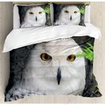 White Owl Staring You Bedding Set Bedroom Decor