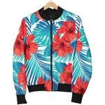 Blue Tropical Hibiscus Pattern  3D Printed Unisex Jacket
