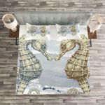 Seahorse In Love Printed Bedding Set Bedroom Decor