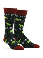 Men's Santasaurus Rex Socks Comfortable Funny Cute Unique Socks
