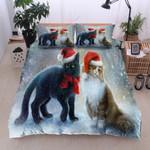 Christmas Cat Snow Winter Bedding Set Bedroom Decor