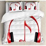 Headphones Listen To Music Bedding Set Bedroom Decor