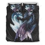 Dragon Heart Shaped Printed Bedding Set Bedroom Decor