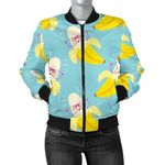 Cool Banana Pattern 3D Printed Unisex Jacket