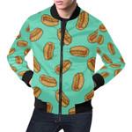 Green Hot Dog Pattern 3D Printed Unisex Jacket