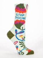 Stop Talking Women's Crew Socks Funny Cute Unique Socks