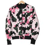 Pink Green And Black Camouflage  3D Printed Unisex Jacket