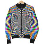 Octagonal Psychedelic Optical Illusion  3D Printed Unisex Jacket