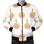 Cute Onion Smiling Faces 3D Printed Unisex Jacket