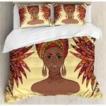 African Ethnic Black Queen Bedding Set Bedroom Decor