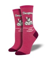 "Women's Retro Spoof ""Retail Therapy"" Socks Comfortable Funny Cute Unique Socks"