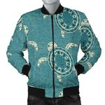 Sea Turtle Vintage Pattern 3D Printed Unisex Jacket