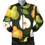 Pear Pattern Dark Green 3D Printed Unisex Jacket