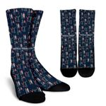 Physical Therapy Pattern  Printed Crew Socks