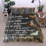 Flower Butterfly I'm The Sunshine In Your Hair Printed Bedding Set Bedroom Decor