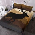 Deer In Wild Life Printed Bedding Set Bedroom Decor