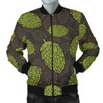 Hop Pattern Black Background 3D Printed Unisex Jacket