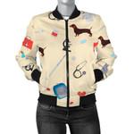 Veterianary Pastel Pattern 3D Printed Unisex Jacket