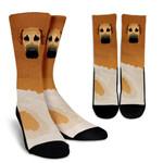 Real Great Dane Fawn  Printed Crew Socks
