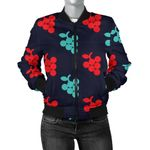 Red And Blue Grape Pattern 3D Printed Unisex Jacket