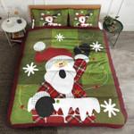 Snowman Snowflake Printed Bedding Set Bedroom Decor