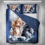 Funny Cat Sinking Boat Printed Bedding Set Bedroom Decor