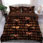 Bookshelf Gift For Bookworm Bedding Set Bedroom Decor