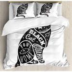 Black Cat Your Home Printed Bedding Set Bedroom Decor