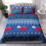 Dinosaur Christmas Pattern Bedding Set Bedroom Decor