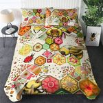 Bee Insects Pattern Colorful Printed Bedding Set Bedroom Decor