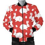 White Rabbit Pattern 3D Printed Unisex Jacket