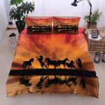 Horse Sunset Reflection On Water Bedding Set Bedroom Decor