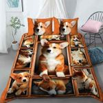 Corgi Emotion Printed Bedding Set Bedroom Decor