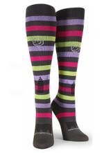 "All About Stripes ""Ooh La La"" Comfortable Cute Funny Unique Unisex Socks"