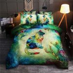 Colorful Cat At Night Bedding Set Bedroom Decor